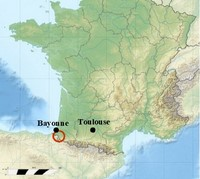 location map gr10 st jean pied de port to etsaut western pyrenees